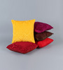 Stybuzz Multicolour Velvet 16 x 16 Inch Cushion Covers - Set of 5