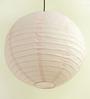 Stybuzz Light Pink Paper Round Lantern