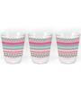 Stybuzz Pink Aztec 60 ML Shot Glass - Set of 3