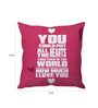 Stybuzz Pink Poly Silk 16 x 16 Inch How Much I Love You Cushion Cover