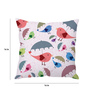 Stybuzz Poly Silk 16 x 16 Inch 'Birds of Love' Abstract Cushion Cover