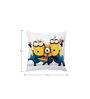 Stybuzz Posing Minions Yellow Silk Cushion Cover