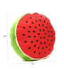 Stybuzz Red & Green Velvet 16 x 16 Inch Watermelon Fruit Slice Cushion Cover with Insert