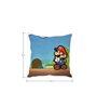 Stybuzz Super Mario White Silk Cushion Cover