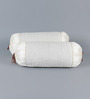 Stybuzz White Dupion Silk 16 x 30 Inch Bolster Covers - Set of 2