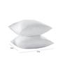 Stybuzz White Fibre 12 x 12 Inch Cushion Inserts - Set of 2