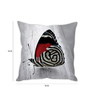 Stybuzz White Silk 16 x 16 Inch Butterfly Cushion Cover