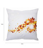 Stybuzz White Silk 16 x 16 Inch Cushion Cover