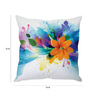 Stybuzz White Silk 16 x 16 Inch Handcrafted Cushion Cover with Insert