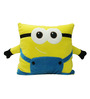 Stybuzz Yellow Velvet 16 x 16 Inch Minion Cushion Cover with Insert