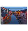 Hashtag Decor Stylized Photo Canal Night View Engineered Wood Art Panel
