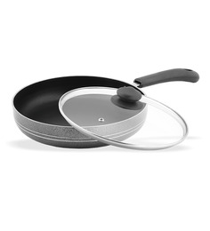 Sumeet Aluminium 10 Inch Nonstick Fry Pan With Glass Lid - 1364083