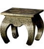 Opium Coffee Table with Brass Repousse Work by Mudramark