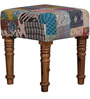 Adhivasa Stool with Kaantha Patchwork by Mudramark