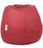 Suede Bean Bag Cover without Beans in Crimson Colour by Can