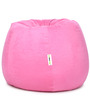 Suede Bean Bag Filled with Beans in Light Pink Colour by Can