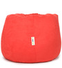 Suede Bean Bag Filled with Beans in Red Colour by Can