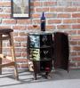 Clapton Bar Cabinet in Distress Finish with Bohemiana