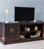 Lancefield Entertainment Unit in Passion Mahogany Finish by Amberville