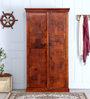Sumana Handcrafted Wardrobe in Honey Oak Finish by Mudramark