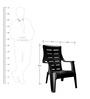 Sunday Garden Chair in Black Colour by Nilkamal
