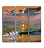 Hashtag Decor Sunset Waves Engineered Wood 6 x 18 Inch Framed Art Panel