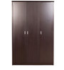 Super Magna Three Door Wardrobe in Black Colour by Godrej Interio