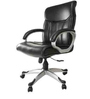 Superio Medium Back Executive Chair in Black Leatherette by Starshine