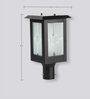 Superscape Outdoor Lighting Gl4551 Black Steel Gates Light