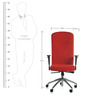 Supremo Series A High Back Office Chair in Red colour by BlueBell Ergonomics