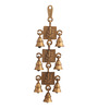 Suriti Golden Brass Ganesha Theme Three Tier Hanging Bell