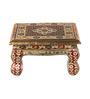 Suriti Multicolor Wooden Meenakari Puja Chowki