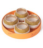 Suriti Multicolour Clay Diwali Diya - Set of 4