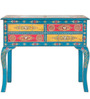 Nilaka - Painted Console Table in Cerulean Blue by Mudramark