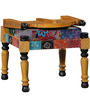 Raaga Patchwork Chair in Yellow Color by Mudramark