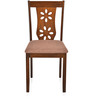 Sutlej Four Seater Solid Wood Dining Set in Antique Cherry Finish by @Home