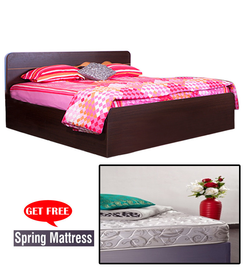 Swirl Combo Deal Queen Size Bed Without Storage 6 39 Inch Dreamline Plus Spring Mattress 2