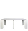 Swank Convertible Console cum Dining Table in White Colour by Gravity