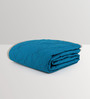 Swastika Blue 100% Cotton Queen Size Bed Cover