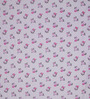 Swastika Off-white & Pink Cotton Queen Size Bed Sheet with 2 Pillow Covers