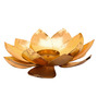 SWHF Gold Iron Antique Lotus Tea Light Holder
