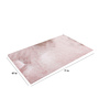 SWHF Pink Cotton Microfiber 71 x 47 Inch Extra Large Area Rug