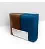 Swiss Republic Blue and Brown Cotton 28 x 59 Bath Towel - Set of 2