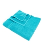 Swiss Republic Grey and Blue Cotton 28 x 59 Bath Towel - Set of 2