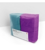 Swiss Republic Grey and Purple Cotton 28 x 59 Bath Towel - Set of 2