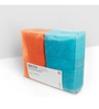 Swiss Republic Orange and Blue Cotton 28 x 59 Bath Towel - Set of 2