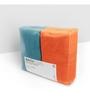 Swiss Republic Orange and Grey Cotton 28 x 59 Bath Towel - Set of 2