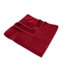 Swiss Republic Red and Grey Cotton 28 x 59 Bath Towel - Set of 2