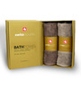 Swiss Republic Brown & Plaza Taupe Bath Towel - Set of Two