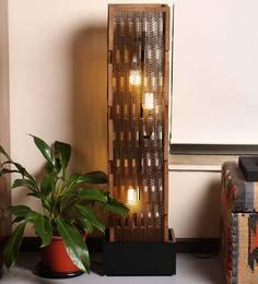 Sylvn Studio Classy Brown Sierra Corrugated Board Floor Lamp